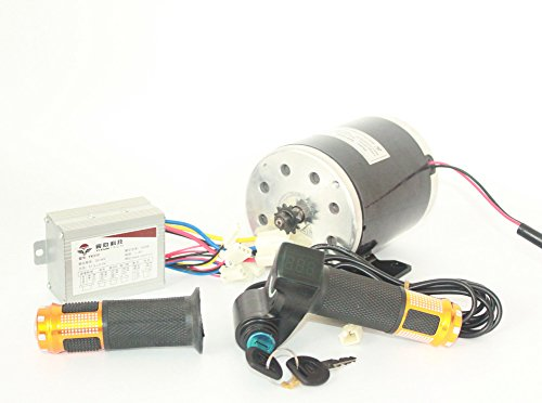 24V36V48V 500W Elektromotor Brushed DC-Motor Kit Elektro Scooter Motor MY1020 UNITE Motor Electric Scooter Conversion Kit E-Bike-Motor-Kit (24V500W)