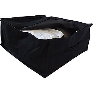 Neusu Doppelpack Premium Aufbewahrungstaschen, 2 x 40 Liter 45x45x20cm Schwarz