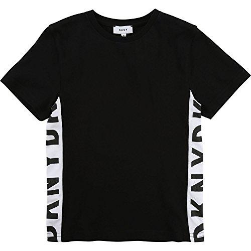 DKNY T-Shirt schwarz weiß Logo Print Gr.12A