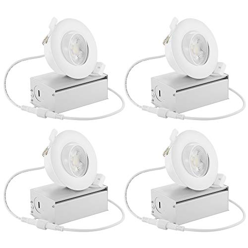 6-licht Halogen-flush (drart LED Einbaustrahler Einbauleuchte dimmbar 8W Beleuchtung Bestandteil Nachrüst 7,6cm, entspricht 60W 3000K 5000K Tageslicht White)