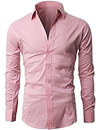 df9f9e8c722 Lyon Becker Men s Shirts Long Sleeve Slim Fit Casual Formal Shirt Basic  Plain Dress Office PS01