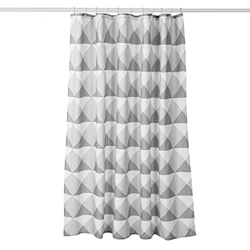 cozyhome AAA Europäischer Duschvorhang, Polyester-Gewebe ohne Geruch aufgefülltes wasserdichtes dreieckiges hellgraues Duschvorhang 180cm * 200cm