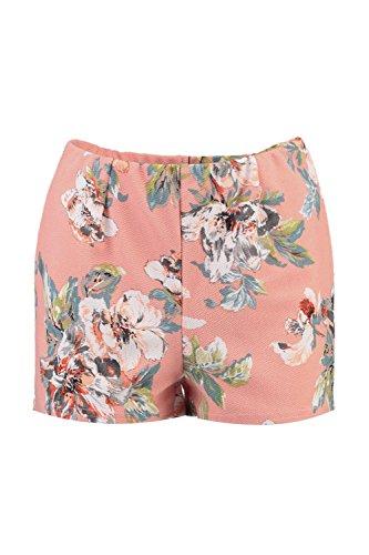 Damen Nackt Fraya Shorts Mit Hohem Bund Und Blumen-print Nackt