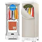 Heated airer Integrierte Heizung Trockner Multifunktions-Luftentfeuchter Home Mute Klimaanlage mit Zeitschaltuhr 900W Silber Weiß