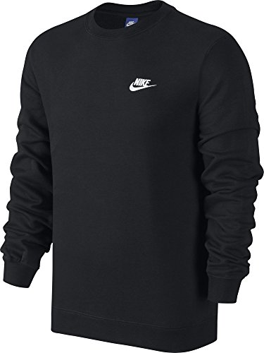 Nike M NSW CRW FT Club Sudadera, Hombre, Negro (Black / White), 2XL
