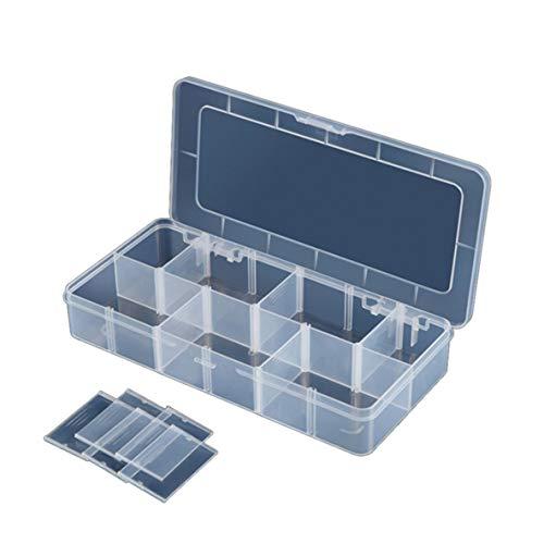 Noradtjcca 12 Fach Slots Cells Portable Tool Box Elektronische Teile Schraube Perlen Ring Schmuck Kunststoff Aufbewahrungsbox Container Halter