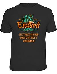 Original RAHMENLOS® Geschenk T-Shirt zum 18. Geburtstag: Endlich 18