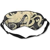 Eye Mask Eyeshade Octopus Watercolor Sleeping Mask Blindfold Eyepatch Adjustable Head Strap preisvergleich bei billige-tabletten.eu