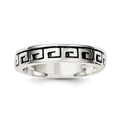 Sterling Silber Griechisch Schlüssel Ring-Größe T 1/2-JewelryWeb