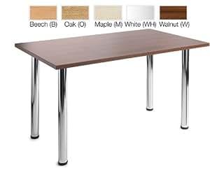 4 pieds de Table Chrome rectangulaire Par prêt Office-Hauteur :  725 MM-Largeur :  300 MM-Profondeur :  800 MM-Couleur :  Blanc