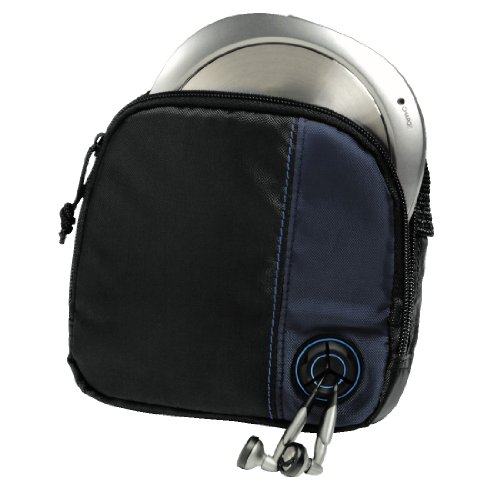 Hama CD Player Bag for CD Player and 3 CDs - Black/Blue Test