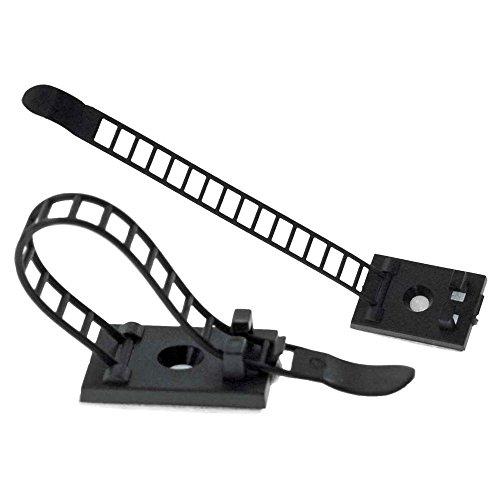 InLine Ferma cavi adesivo regolabile fino a 94mm, con foro di fissaggio, colore neutro, 10pz (Personal Accessori Audio)
