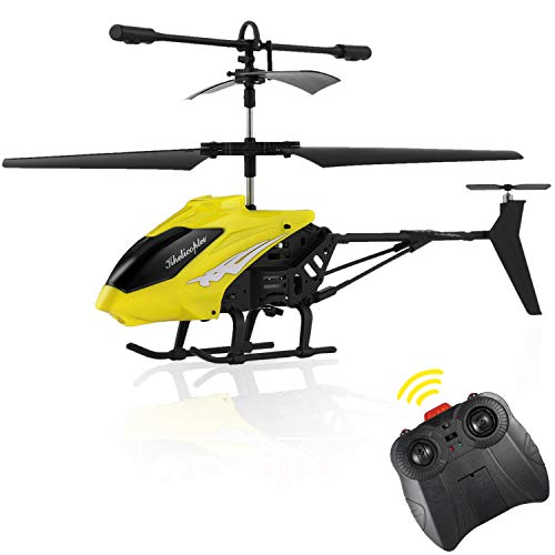 Fpvrc xy803 3.5ch elicottero telecomandato piccolo per bambini con gyro & led - rtf (giallo)