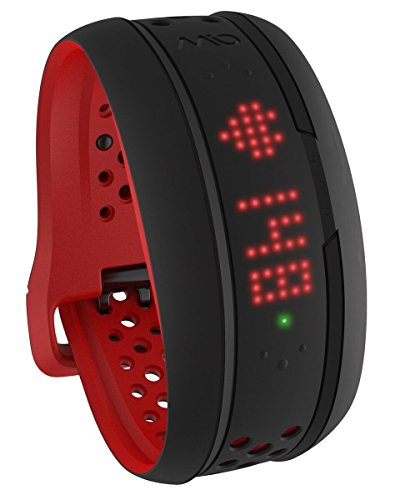 Mio FUSE Performance Activity Tracker mit Herzfrequenzmessung, Crimson, L