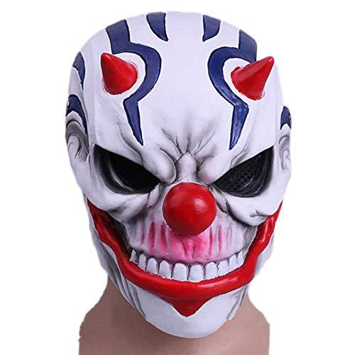 QQWE Spiel Ernte Tag 2 Rostmaske Payday 2 Helm Maske Kopf Cosplay Halloween Weihnachten Maske Kostüm Requisiten,A-OneSize (Payday 2 Cosplay Kostüm)