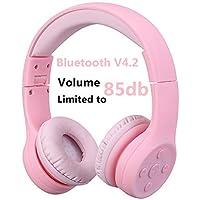 Hisonic Auriculares Bluetooth Compatible con Todos Dispositivos Bluetooth (Rosa 01)