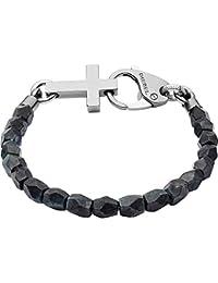 Diesel Homme Acier Bracelet en corde DX1161060