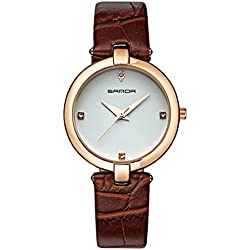 Fashion ladies quartz watch/ strap waterproof watch/Simple casual watches-E