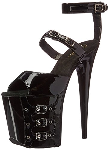 Pleaser FLAMINGO-885 Blk Pat/Blk