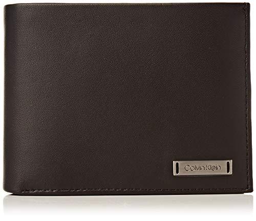 Calvin Klein Herren Smooth W Plaque 10 Cc Coin Pass Münzbörse, Schwarz (Black), 0.1x0.1x0.1 cm
