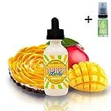 E Liquid Dinner Lady Mango Tart 50ml - 70vg 30pg- booster shortfill + E Liquid The Boat 10 ml lima limón - Sin nicotina ni tabaco para cigarrillo electrónico.