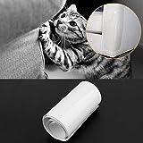 EcLife 2pcs Canapé Guard Cat Meubles Patins de Protection Autocollant à Chat Bloque Rayures