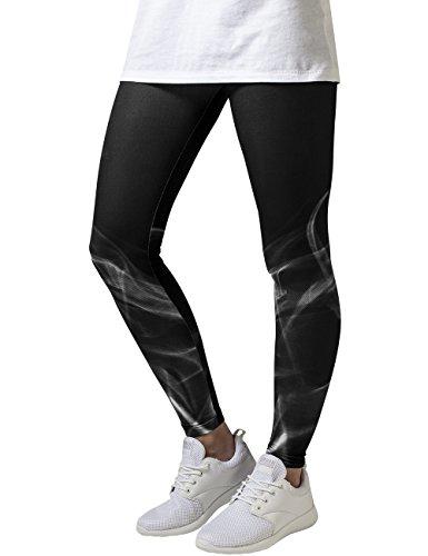 Urban Classics Damen Ladies Smoke Leggings, Mehrfarbig (Blk/Wht 50), W29/L32 (Herstellergröße: L)