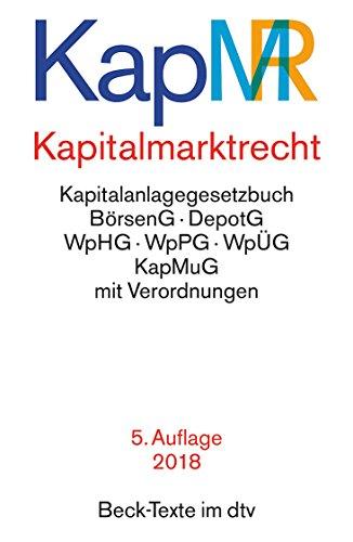 Kapitalmarktrecht (dtv Beck Texte), 5. Auflage, 1. Januar 2018