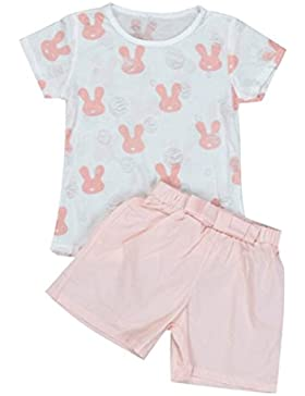 [Patrocinado]Ropa para chicas, RETUROM El conejo del verano de la niña popular imprimió los pantalones de Tops + Shorts de...