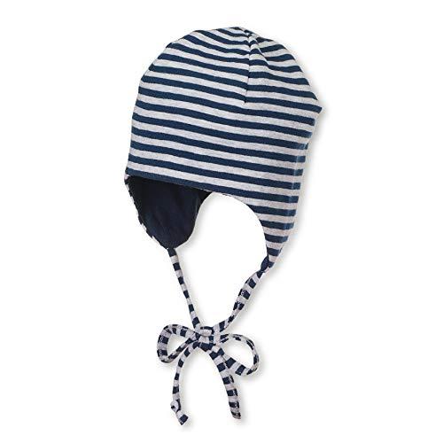 Sterntaler Wende-Mütze mit Bindebändern, Alter: 3-4 Monate, Größe: 39, Blau (Marine)