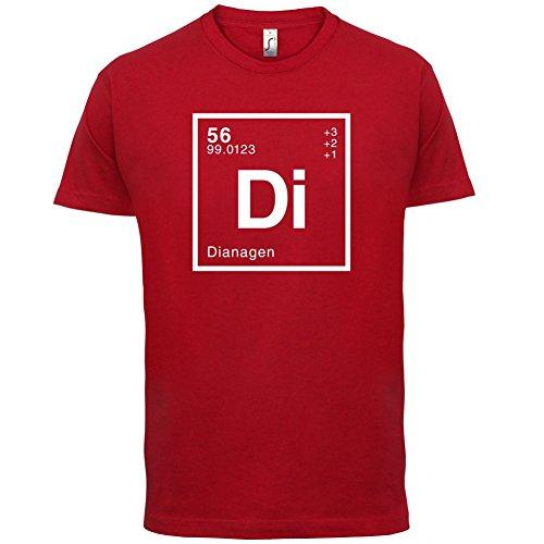 Diana Periodensystem - Herren T-Shirt - 13 Farben Rot
