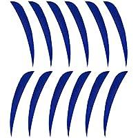 F Fityle 12 Pcs Plumas Paletas de Tiro con Archero Multifuncional Duradero Tipo Parabólico Colorido - Azul Oscuro, 3 Pulgadas