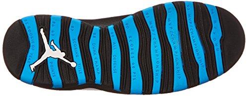 Nike Air Jordan Retro 10, Chaussures de Sport Homme, Noir, 44.5 EU Blanc / bleu / noir (blanc / bleu poudré foncé - noir)