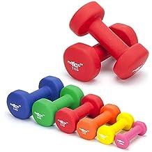 Maximo Fitness Mancuernas de Neopreno (Par) - 2 x 3kg - Pesas de Mano