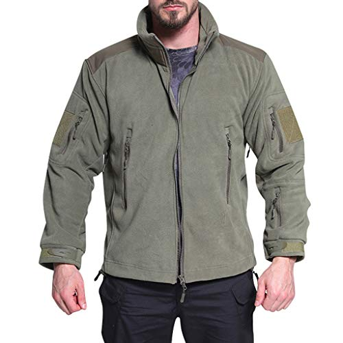 Heetey Herren Kapuzenpullover, Mode Herren Herbst Winter Sport im Freien dicken warmen Samt Bluse Mantel Windbreaker Jacken Wollmantel Kurzmantel Winter Business Jacke