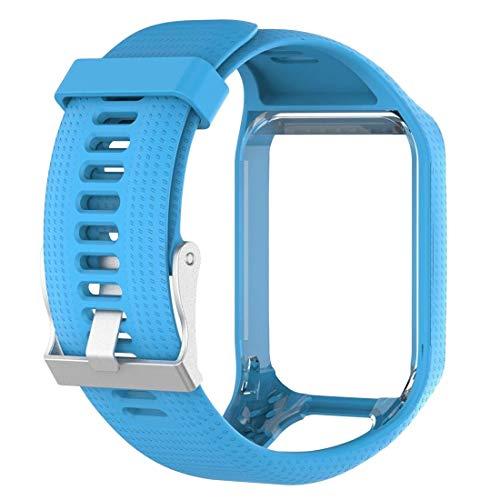 MRLIFY Bracelet Compatible Le Bracelet en Silicone 3 Bandes Spark 3 de Tomtom Runner 2, Accessoires de Remise en Forme Bracelet de Remplacement GPS