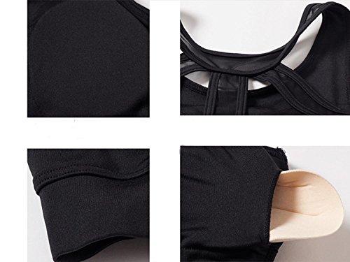 Reggiseno Sportivo Delle Donne / Shock / Yoga / Fitness / Sport Intimo , white , l BLACK-L
