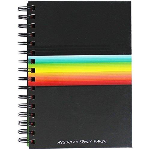 A6 Hardcover Notizbuch Zeitschrift Jotter Wire Bund mehrfarbig Seiten 120 Seiten