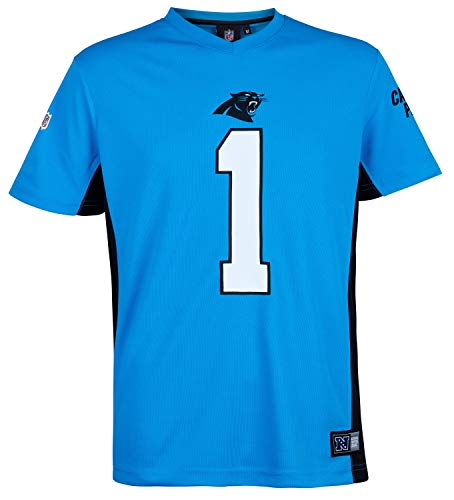 Fanatics NFL Carolina Panthers Cam Newton #1 Polymesh Name Number Shirt Jersey Trikot (3XL) (Nfl-panther-trikots)