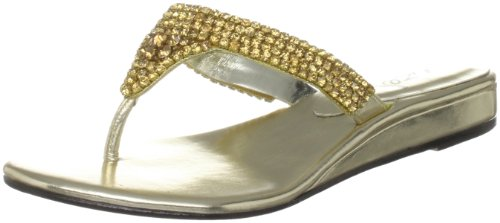 Unze Evening Slippers, Sandali donna Oro (Gold (L18293W))