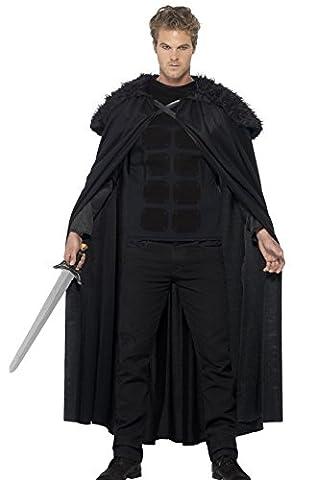 Mens Dark Barbarian Throne Games Halloween Medieval Fancy Dress Costume