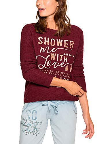 Soccx Damen Pullover in Linksstrick mit Print