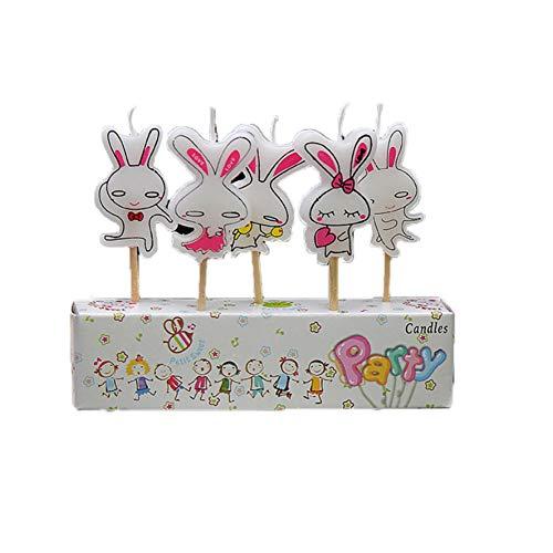 Hemore Dibujos Animados Birthday Velas Pasteles de Fiesta Vela Cup Cake Toppers...