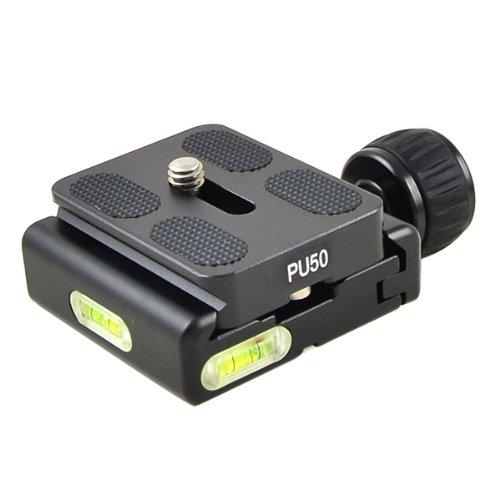 """MENGS® CL-50S Klemme + schnelle Platte für 1/4""""Kameraschraube einstellbar massivem Aluminium eingebauten Hochkontraststufen kompatibel mit Akai Standard Schnellwechselplatte"""