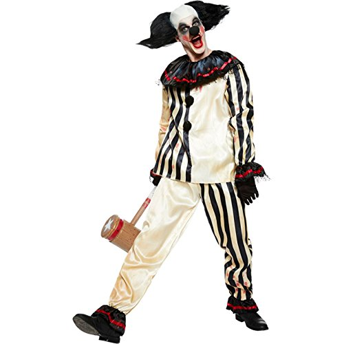 Nuovo da uomo halloween scary clown costume travestimento costume