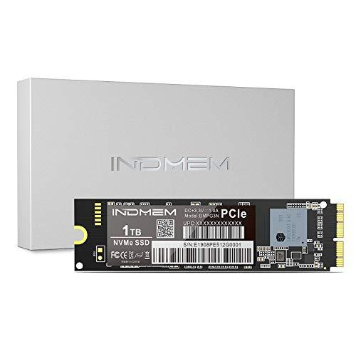 INDMEM 1TB NVMe PCIe Gen3x4 Internes SSD Schnelle Geschwindigkeit Solid State Laufwerk für MacBook Air 2013-2017, MacBook Pro Retina 2013-2015, iMac 2013-2017, Mac Pro 2013, Mac Mini 2014