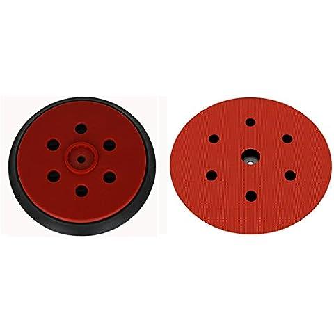 Plato lijador medio para Hilti WFE 150E disco de lijado de VELCRO Ø 150mm - con 6-agujeros para la extracción de polvo - suave medio o duro - a su elección -