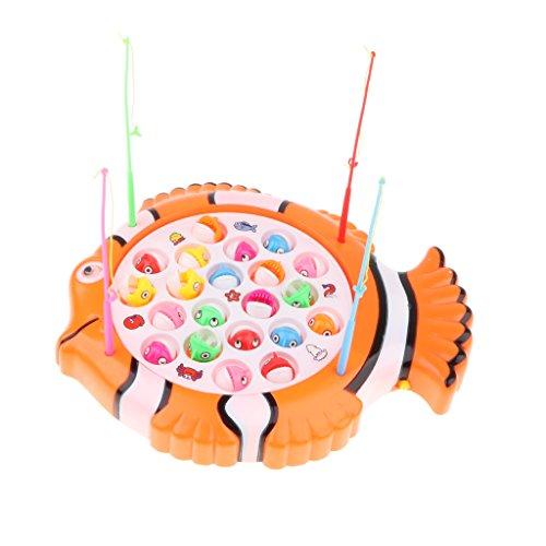 MagiDeal Elektrisches Magnetische Enten & Angelrute Angeln Spielset mit Musik - Kinder Baby Badewannenspielzeug - # 1