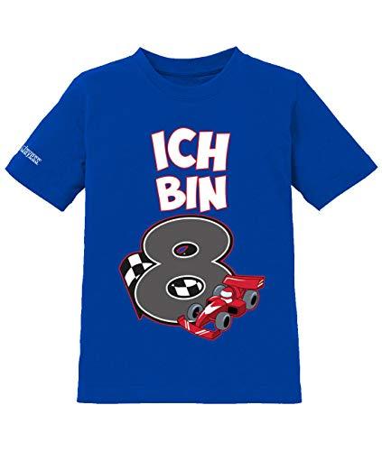 Jayess Ich Bin 8 - Motorsport Autorennen Rennfahrer - 8. Geburtstag - Jungen - Kinder T-Shirt in Royalblau by Gr. 134/146