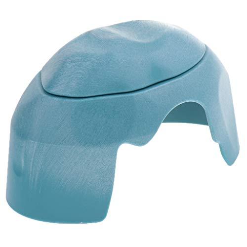 Homyl Cueva de Humidificador Plato de Agua Comida Complimentos Mascota Color Brillante Ecológico Duradero - Azul S